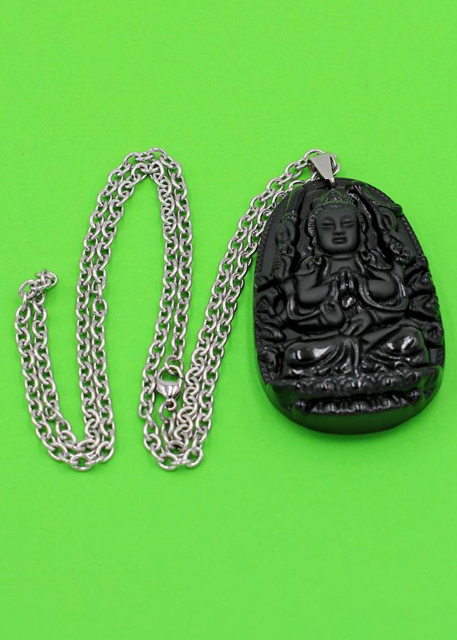 Vòng cổ Thiên Thủ Thiên Nhãn thạch anh đen 6 cm DITTES8 - Phật bản mệnh tuổi Tý - Sản phẩm phong thủy có kích...