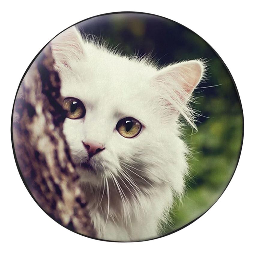 Gối Ôm Tròn Mèo Núp Gốc Cây - GOAA233