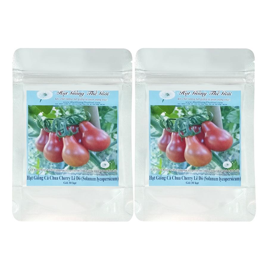 Bộ 2 Túi Hạt Giống Cà Chua Cherry Lê Đỏ - Solanum lycopersicum (30 Hạt)