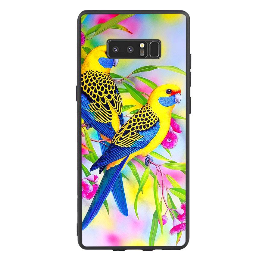Ốp lưng nhựa cứng viền dẻo TPU cho điện thoại Samsung Galaxy Note 8 - Couple Bird