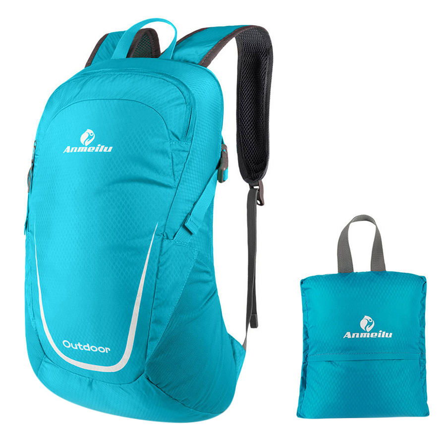 Lixada 15L Lightweight Packable Backpack Water Resistant Foldable Outdoor Camping Hiking Cycling Handy Travel Daypack