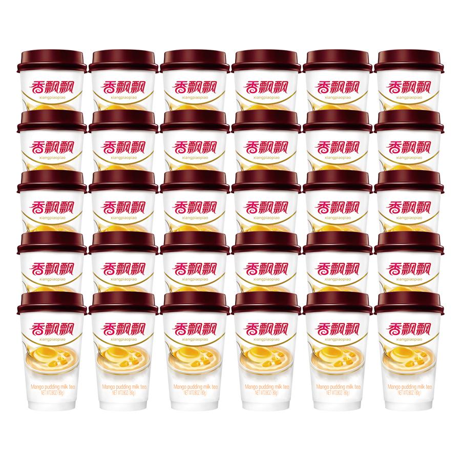 Thùng 30 Ly Trà Sữa Vị Pudding Xoài Mango Pudding  Xiang Piao Piao (30 x 80g)