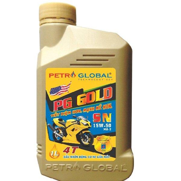 Dầu nhờn xe máy cao cấp Petro Global (PG GOLD SN 1 Lít)