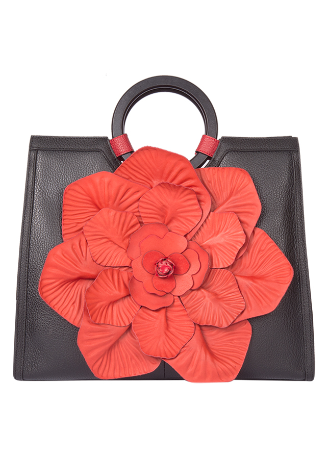 Túi Xách Nữ Efora Circle Handle Multi Red Floral Handbag (370 x 150 x 300mm)