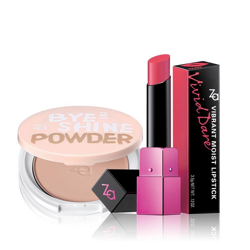 Bộ đôi Phấn Phủ Kiềm Dầu Mịn Mượt và Son màu giàu ẩm Za (Bye-bye Shine Powder Natural + Vibrant Moist Lipstick RS461S) - 1272416 , 4626799457632 , 62_10764593 , 524000 , Bo-doi-Phan-Phu-Kiem-Dau-Min-Muot-va-Son-mau-giau-am-Za-Bye-bye-Shine-Powder-Natural-Vibrant-Moist-Lipstick-RS461S-62_10764593 , tiki.vn , Bộ đôi Phấn Phủ Kiềm Dầu Mịn Mượt và Son màu giàu ẩm Za (Bye-bye Sh