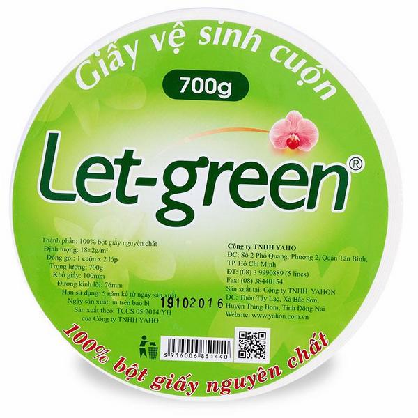 Giấy Vệ Sinh Let Green (700g) - 1098135 , 5630942048874 , 62_3942149 , 55500 , Giay-Ve-Sinh-Let-Green-700g-62_3942149 , tiki.vn , Giấy Vệ Sinh Let Green (700g)