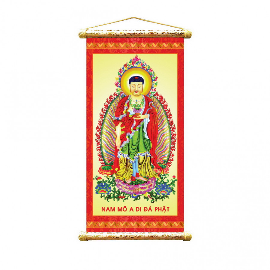 Tranh vải sáo trúc hình Phật  VTS - 01