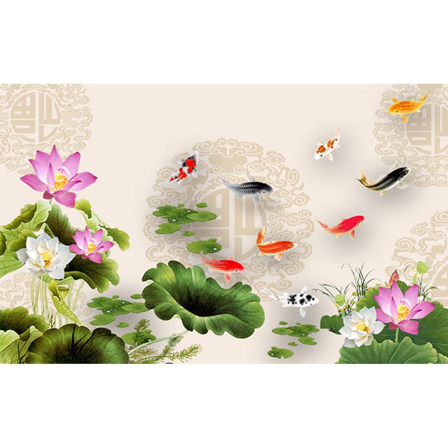 Tranh dán tường 3d | Tranh dán tường phong thủy hoa sen cá chép 3d 493 - 1245832 , 1455590275694 , 62_5319855 , 450000 , Tranh-dan-tuong-3d-Tranh-dan-tuong-phong-thuy-hoa-sen-ca-chep-3d-493-62_5319855 , tiki.vn , Tranh dán tường 3d | Tranh dán tường phong thủy hoa sen cá chép 3d 493