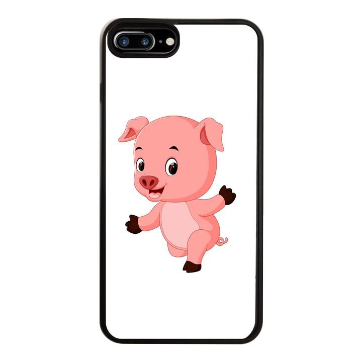 Ốp Lưng Kính Cường Lực Dành Cho Điện Thoại iPhone 7 Plus / 8 Plus Pig Pig Mẫu 4