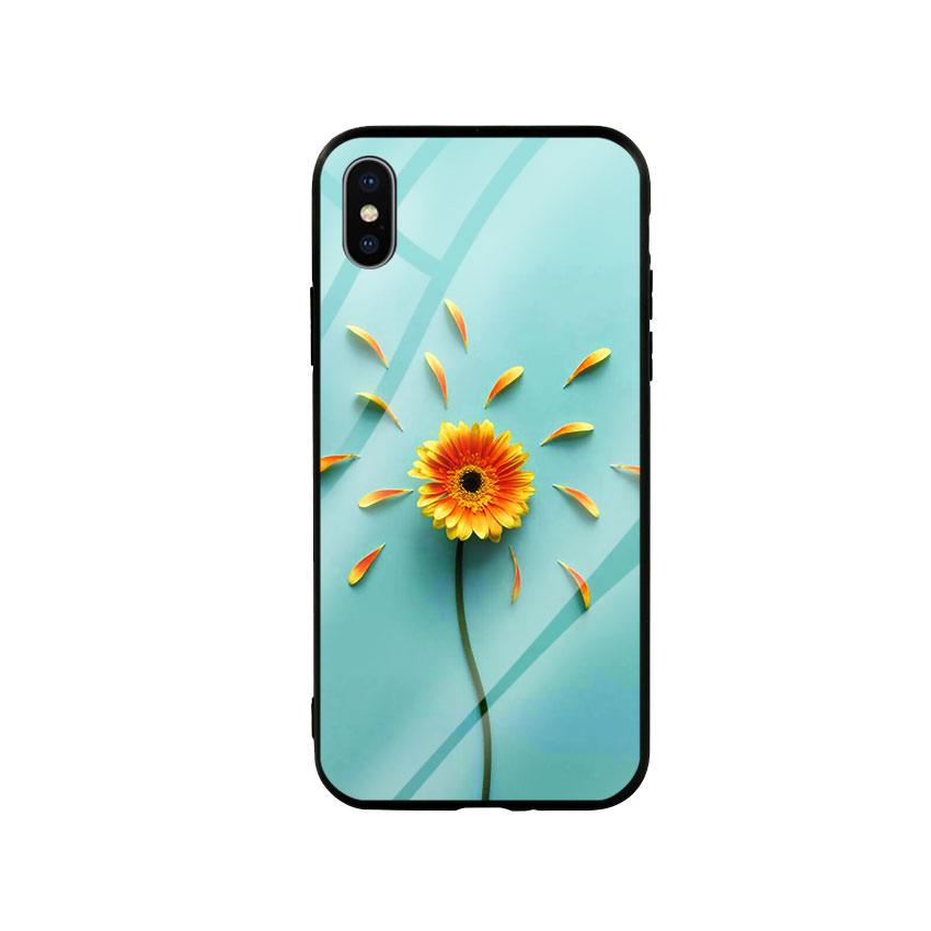 Ốp lưng kính cường lực cho điện thoại Iphone X / Xs - Sun Flower 02