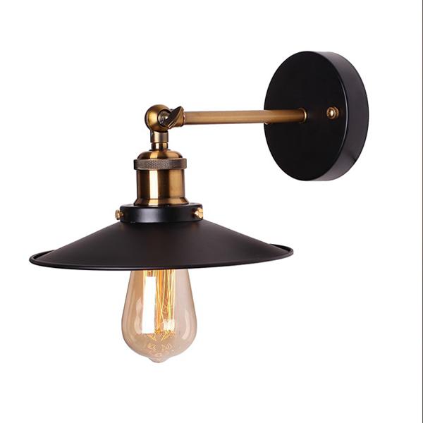 Đèn gắn tường - đèn cầu thang - đèn tường chóa đĩa đui đồng cao cấp Cros kèm bóng Edision