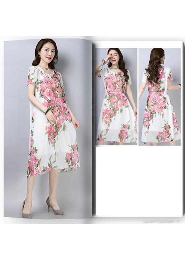 Đầm Suông Hoa Hồng DS154_BL