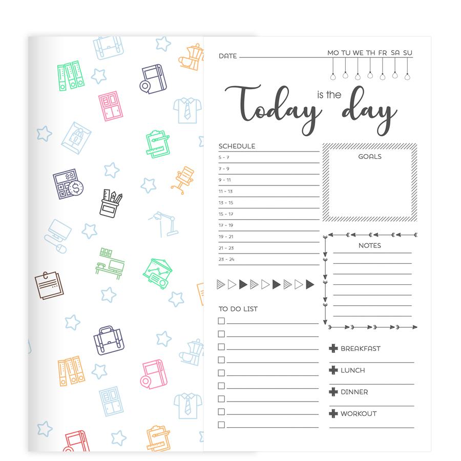 """Sổ tay Planner """"Vui Mỗi Ngày"""" bìa cứng in họa tiết 21x11 cm to-do list, check list, thời gian biểu, nhắc việc ngày - 2171074 , 5678993963074 , 62_13912774 , 169000 , So-tay-Planner-Vui-Moi-Ngay-bia-cung-in-hoa-tiet-21x11-cm-to-do-list-check-list-thoi-gian-bieu-nhac-viec-ngay-62_13912774 , tiki.vn , Sổ tay Planner """"Vui Mỗi Ngày"""" bìa cứng in họa tiết 21x11 cm to-do l"""