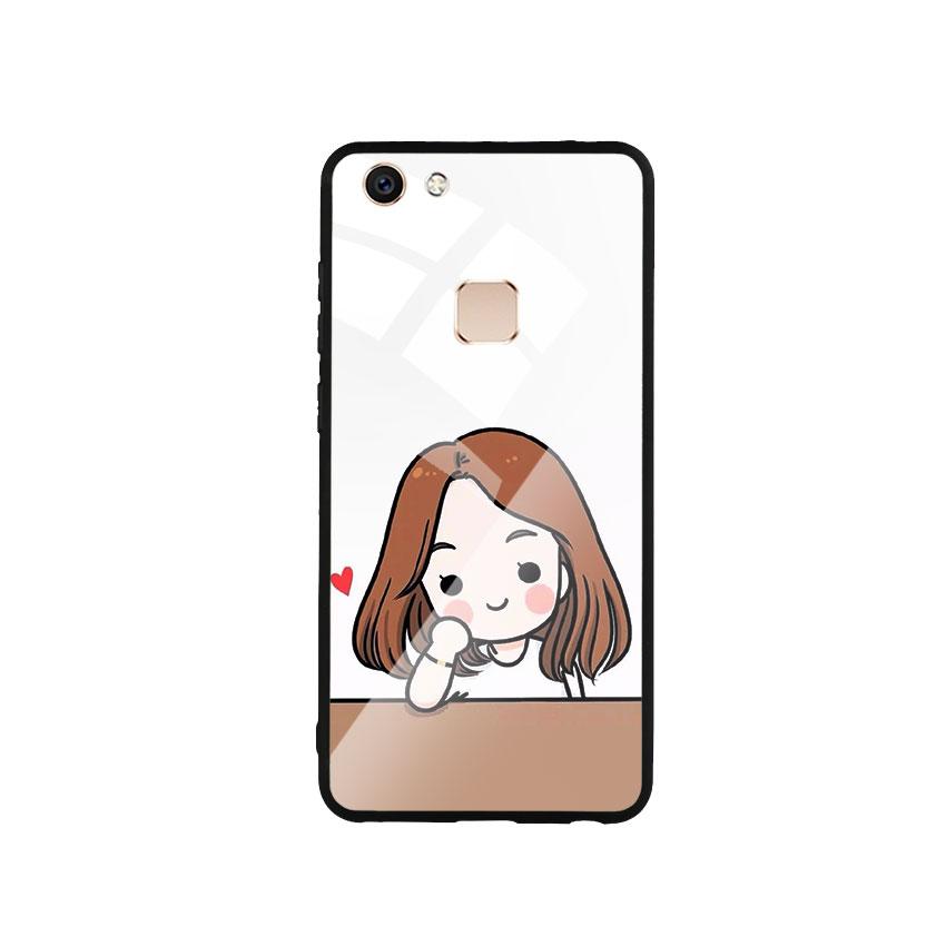 Ốp Lưng Kính Cường Lực cho điện thoại Vivo V7 - Couple Girl 03
