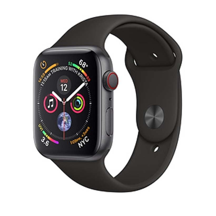 Đồng Hồ Thông Minh Apple Watch Series 4 GPS + Cellular, 44mm Aluminum Case with Black Sport Band - 9471782 , 8441611887338 , 62_17056500 , 15490000 , Dong-Ho-Thong-Minh-Apple-Watch-Series-4-GPS-Cellular-44mm-Aluminum-Case-with-Black-Sport-Band-62_17056500 , tiki.vn , Đồng Hồ Thông Minh Apple Watch Series 4 GPS + Cellular, 44mm Aluminum Case with B