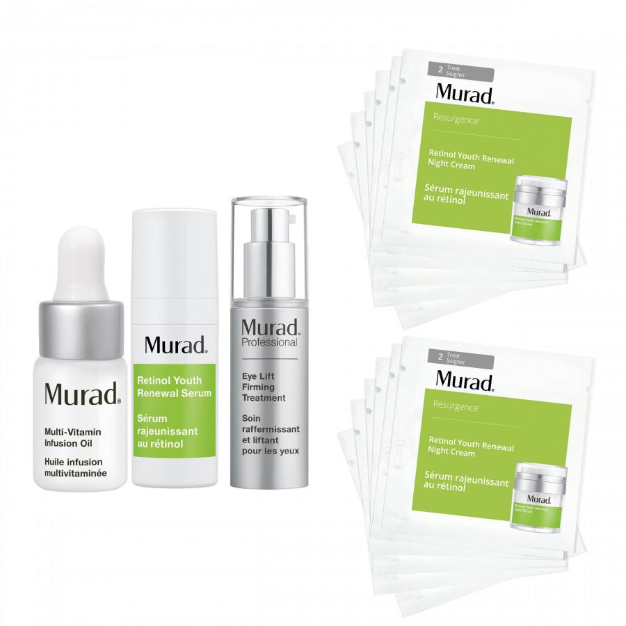 Bộ Kit hồi sinh làn da lão hóa Murad (Retinol Youth Renewal Serum  10ml + Eye Lift Firming Treatment 5ml + Retinol Renwal Night Cream... - 1294801 , 9599639091196 , 62_14257235 , 2389000 , Bo-Kit-hoi-sinh-lan-da-lao-hoa-Murad-Retinol-Youth-Renewal-Serum-10ml-Eye-Lift-Firming-Treatment-5ml-Retinol-Renwal-Night-Cream...-62_14257235 , tiki.vn , Bộ Kit hồi sinh làn da lão hóa Murad (Retinol