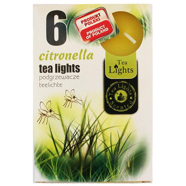 Hộp 6 nến thơm Tea lights Admit Citronella ADM1393 (Hương sả chanh)