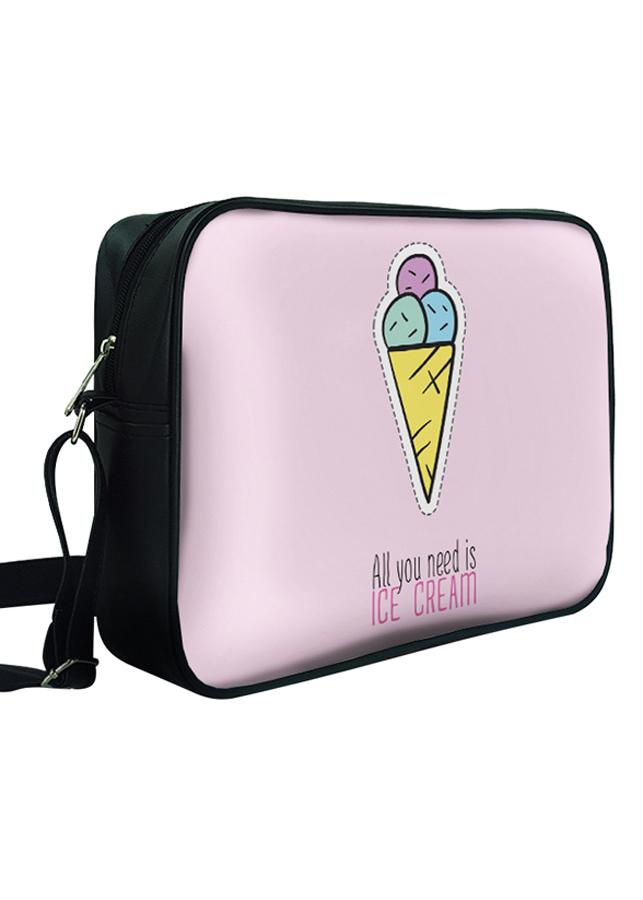 Túi Đeo Chéo Hộp Unisex In Hình All You Need Is Ice Cream - TCHK020