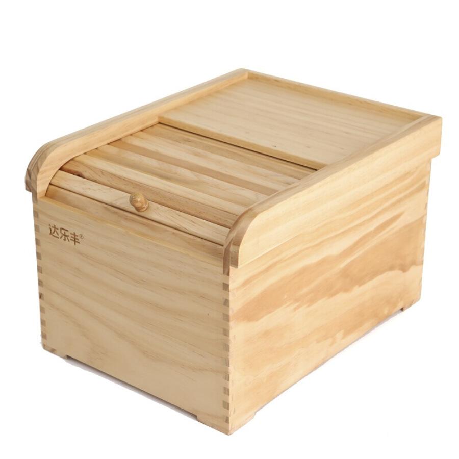 Da Lefeng wood rice barrel pine wood rice barrel 10KG roller blind barrel rice cylinder storage box MBJ23