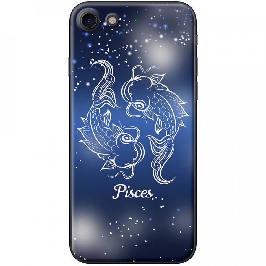 Ốp lưng  dành cho iPhone 7, iPhone 8 mẫu Cung hoàng đạo Pisces (xanh)