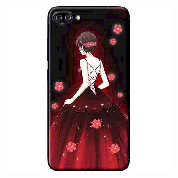 Ốp Lưng Dành Cho Asus Zenfone 4 Max Pro ZC554KL - Cô Gái Váy Đỏ Hoa Hồng