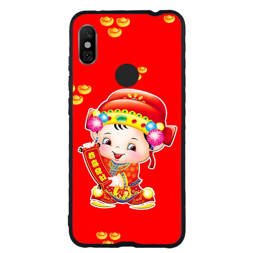 Ốp Lưng Viền TPU cho điện thoại Xiaomi Redmi Note 6 Pro - Thần Tài 05