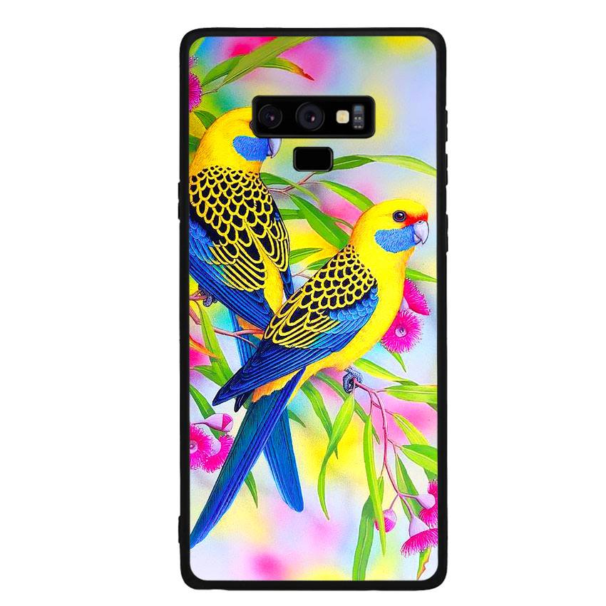 Ốp lưng nhựa cứng viền dẻo TPU cho điện thoại Samsung Galaxy Note 9 - Couple Bird