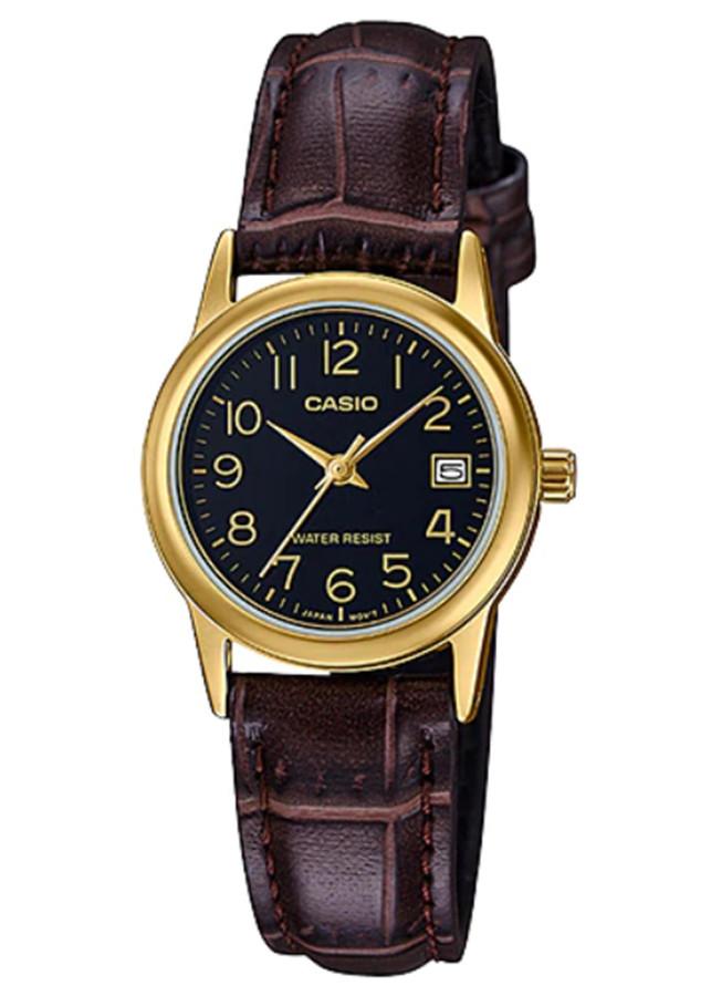 Đồng hồ nữ dây da Casio LTP-V002GL-1BUDF