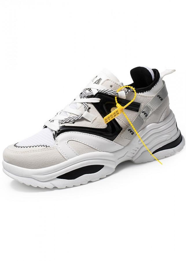 Giày Sneaker Nam Mẫu Mới Siêu Hot YAMET YM111NM Màu Trắng Phối Đen