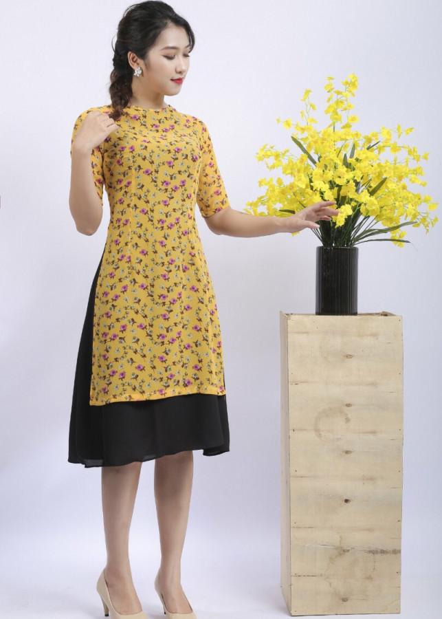 Áo dài cách tân liền chân váy hoa nhí - 2159984 , 2098730433463 , 62_13803291 , 380000 , Ao-dai-cach-tan-lien-chan-vay-hoa-nhi-62_13803291 , tiki.vn , Áo dài cách tân liền chân váy hoa nhí