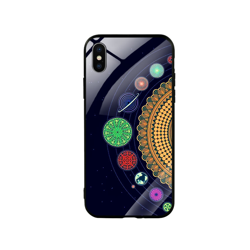 Ốp lưng kính cường lực cho điện thoại Iphone X / Xs - Galaxy