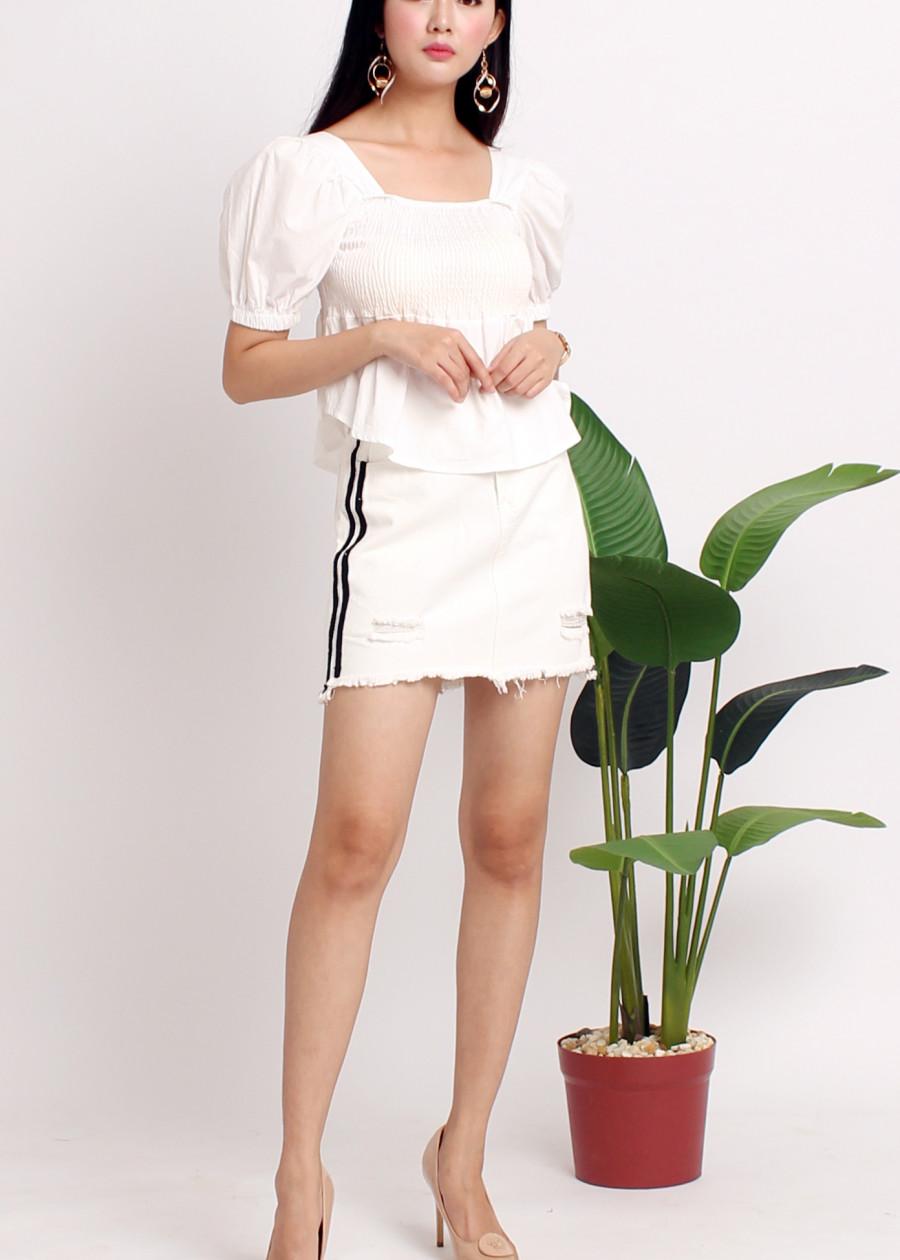 Chân váy ngắn trắng VJ02
