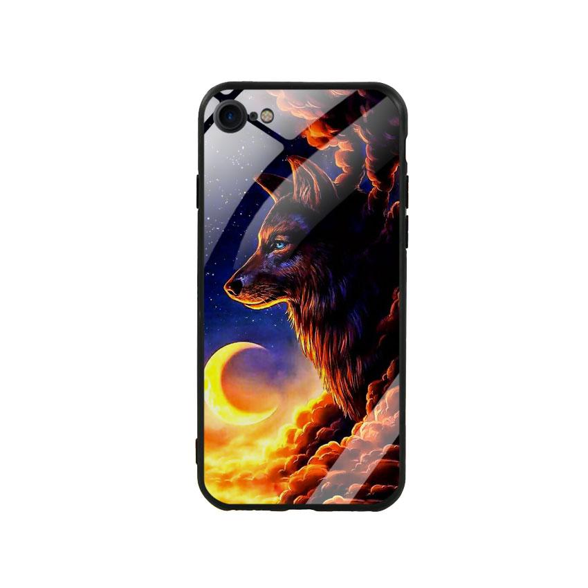 Ốp Lưng Kính Cường Lực cho điện thoại Iphone 7 / 8 - Wolf 03