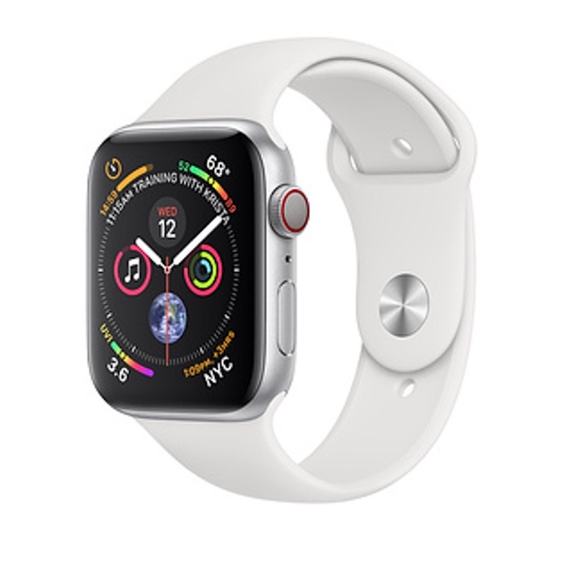 Đồng Hồ Thông Minh Apple Watch Series 4 GPS + Cellular, 44mm Aluminum Case with Black Sport Band