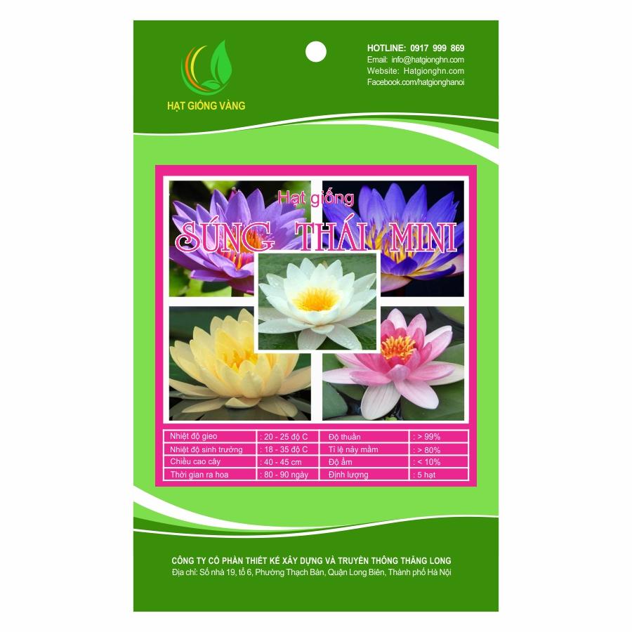 Combo 2 gói Hạt giống hoa Súng thái mini Golden Seeds 5 Hạt