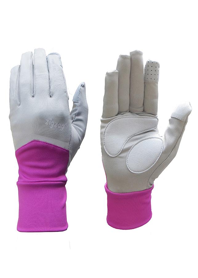 Găng tay Nonstop chống nắng UPF50+ tím xám Zigzag GLV01006