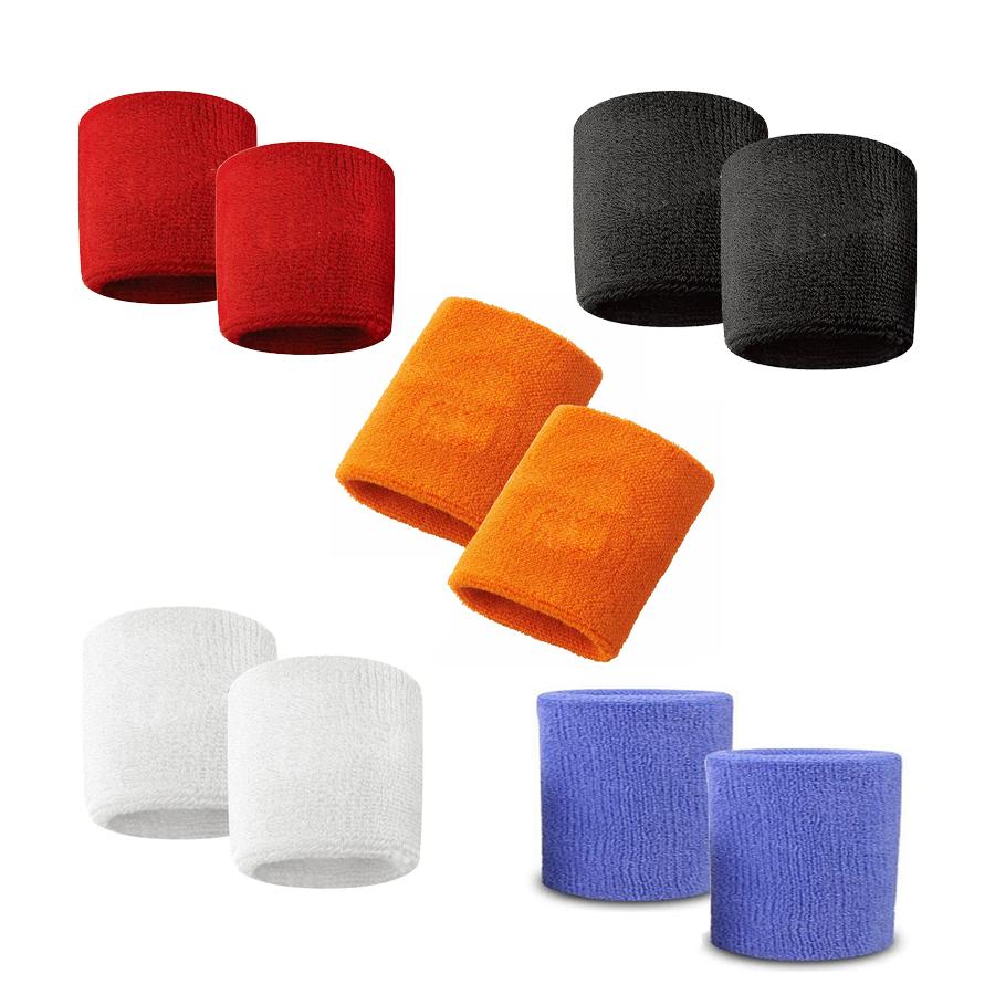 Combo khăn đeo cổ tay thể thao thấm mồ hôi Aolikes AL0203 (màu ngẫu nhiên)