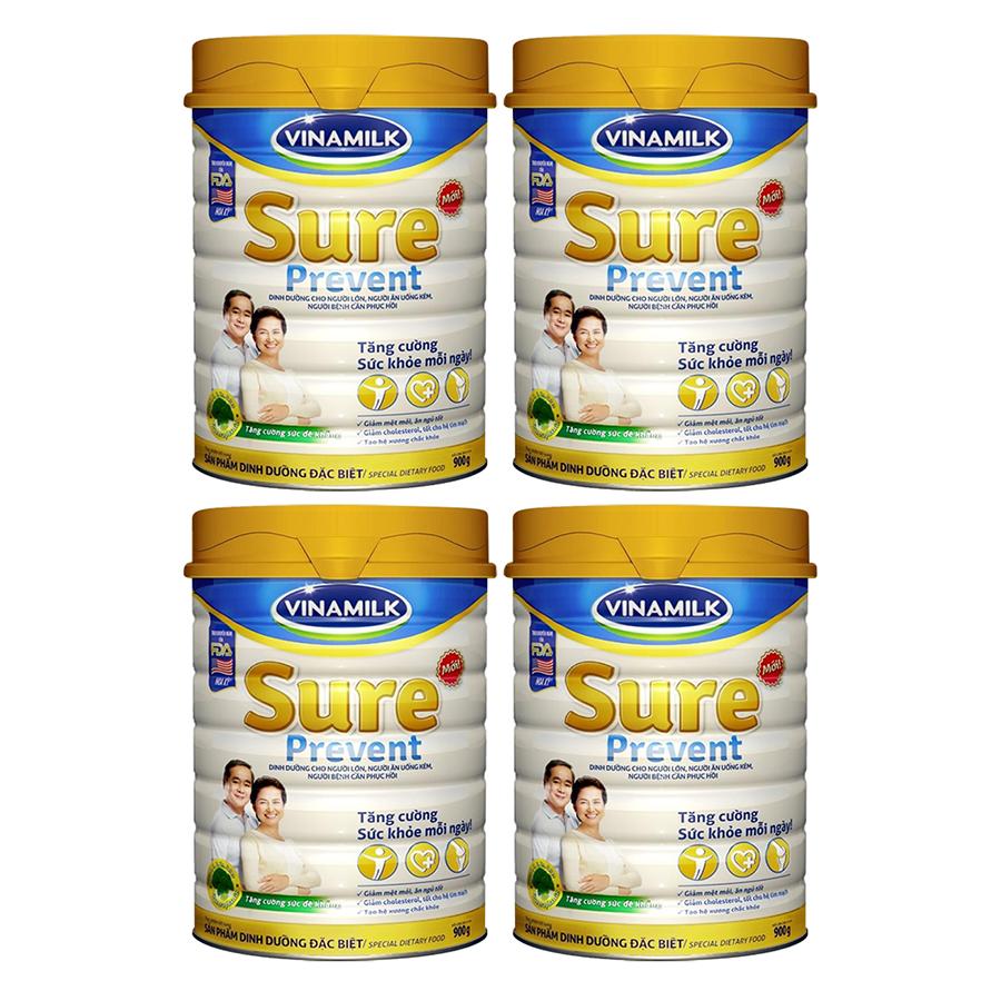 Bộ 4 Hộp Sữa Bột Vinamilk Sure Prevent (900g/ Hộp) - 985219 , 4228836360969 , 62_2592821 , 1755000 , Bo-4-Hop-Sua-Bot-Vinamilk-Sure-Prevent-900g-Hop-62_2592821 , tiki.vn , Bộ 4 Hộp Sữa Bột Vinamilk Sure Prevent (900g/ Hộp)