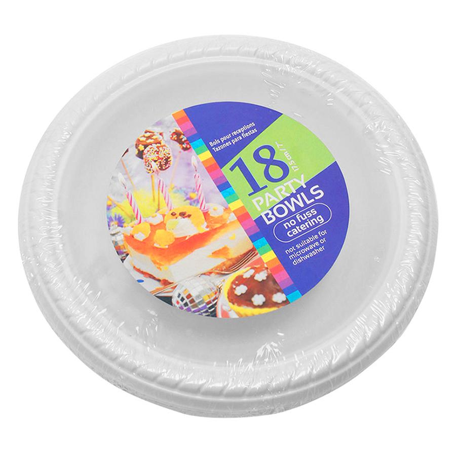 Bộ Đĩa Nhựa Uncle Bills Trắng 18 Cái (17,5cm)