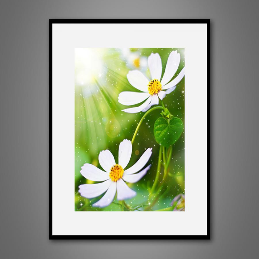 Khung tranh Canvas đơn hoa lá 18