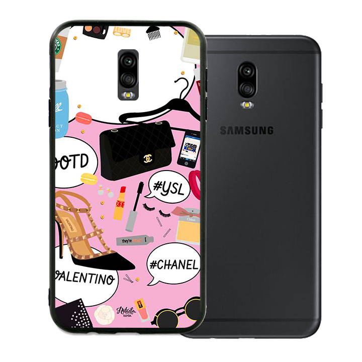 Ốp lưng viền TPU cho Samsung Galaxy J7 Plus - Dream Girl 01