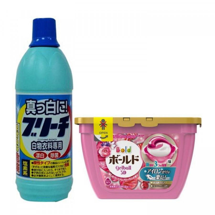 Combo Nước tẩy quần áo 600ml Rocket + Hộp 18 viên giặt xả 3D Gel Ball (2 trong 1) nội địa Nhật Bản - 750049 , 1074716947415 , 62_8318291 , 281000 , Combo-Nuoc-tay-quan-ao-600ml-Rocket-Hop-18-vien-giat-xa-3D-Gel-Ball-2-trong-1-noi-dia-Nhat-Ban-62_8318291 , tiki.vn , Combo Nước tẩy quần áo 600ml Rocket + Hộp 18 viên giặt xả 3D Gel Ball (2 trong 1) nội