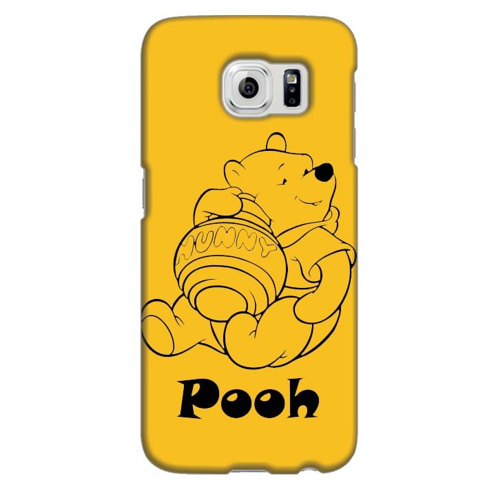 Ốp lưng nhựa cứng nhám dành cho Samsung Galaxy S6 in hình Pooh