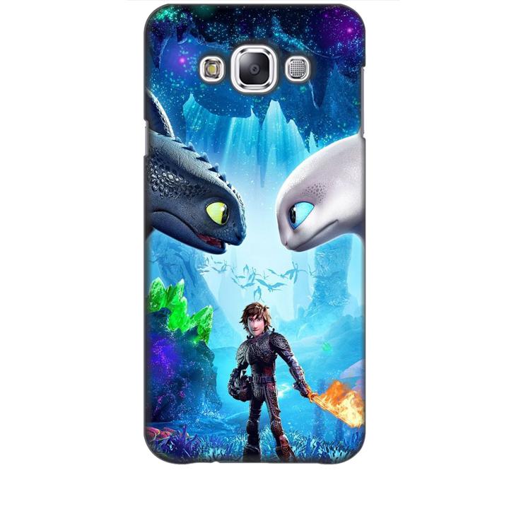 Ốp lưng dành cho điện thoại  SAMSUNG GALAXY E7 hình Baby and Dargon
