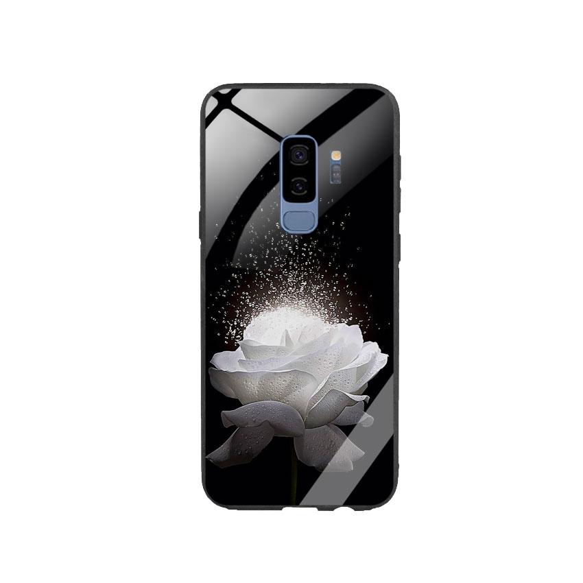 Ốp Lưng Kính Cường Lực cho điện thoại Samsung Galaxy S9 Plus -  0324 ROSE03