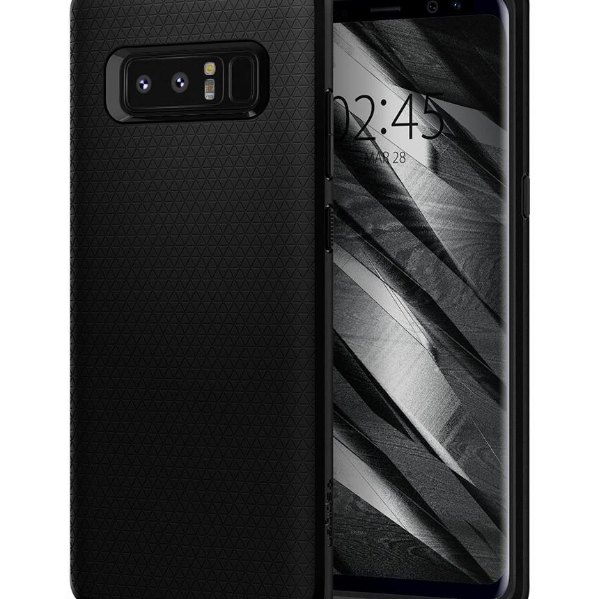 Ốp lưng dành cho Samsung Note 8 Spigen Liquid Air Armor (Mate Black) - Hàng chính hãng
