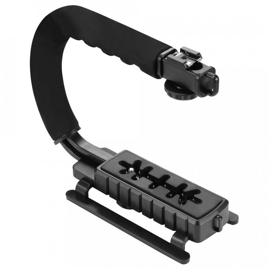 Tay Cầm Chống Rung Hình Chữ C Gắn Camera Và Micro PULUZ PU3005