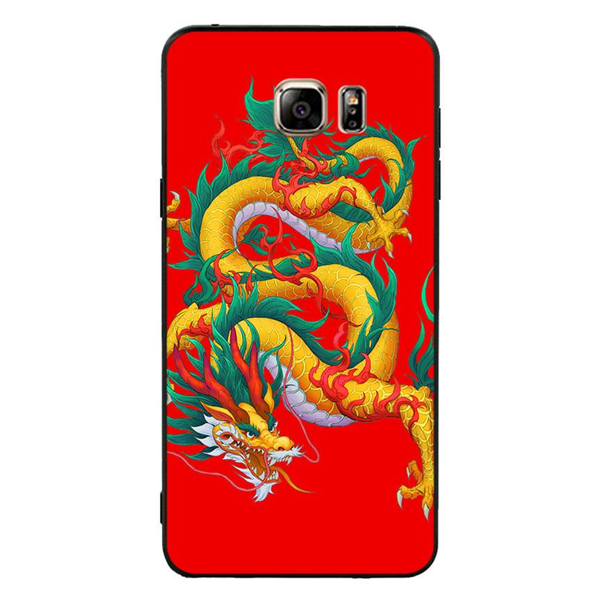 Ốp lưng viền TPU cho điện thoại Samsung Galaxy Note 5 - Dragon 09