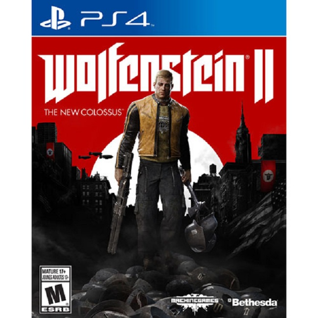 Đĩa Game Ps4: Wolfenstein II-The New Colossus