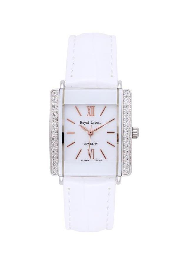 Đồng hồ nữ chính hãng Royal Crown 3545L dây da trắng